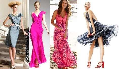 платья и различные цветочные рисунки выделяют в девушке женственность