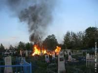 к чему снится пожар на кладбище