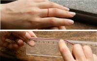по окружности пальца